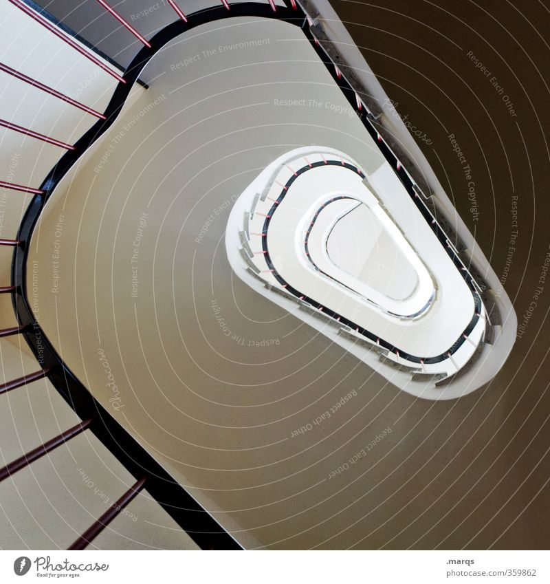 Up Style Career Stairs Staircase (Hallway) Banister Sign Optimism Perspective Future Tall Spiral Ambitious Interior design Round Oval Colour photo Interior shot