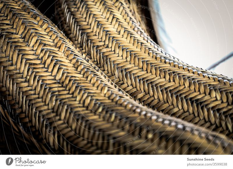 Cane Furniture weave pattern texture for design background Craft Design Handmade abstract antique bamboo basket brown cane cane furniture chair close up closeup