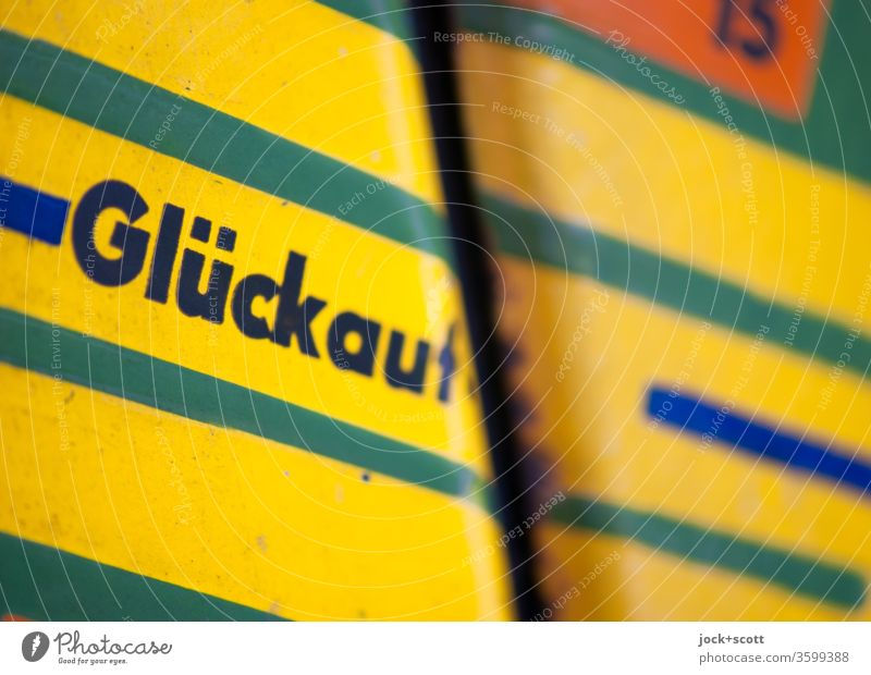 wish you luck GDR Road marking Signs and labeling Signage Structures and shapes Abstract Style Design Retro Detail Varnished Nostalgia for former East Germany