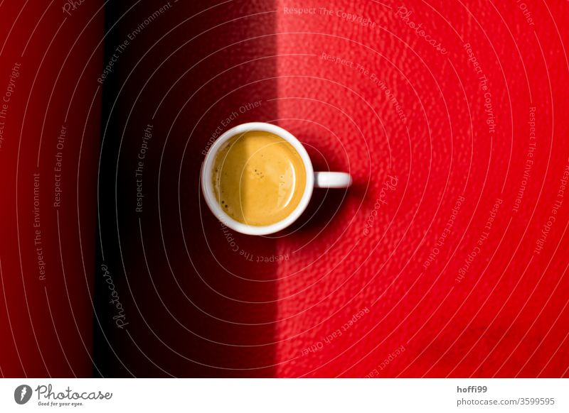 Espresso on a red sofa Coffee Cup Beverage Coffee break Drinking Coffee pot ground coffee Caffeine Aromatic Breakfast Food Hot Morning