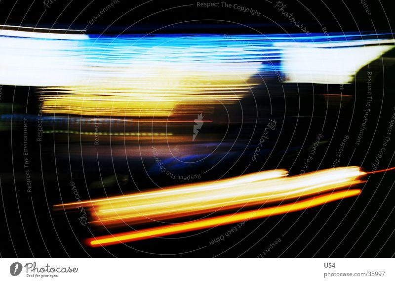 light way Long exposure Night Light Diffuse Abstract Obscure Street Blur