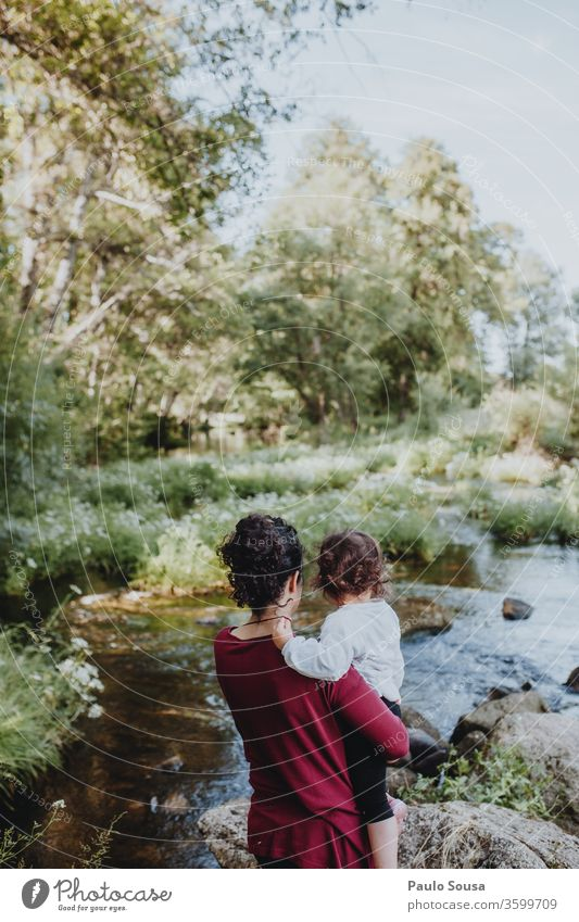 Mother and Daughter watching river Mother's Day motherhood Mother with child Together togetherness Travel photography travel Love Parents Woman care kid