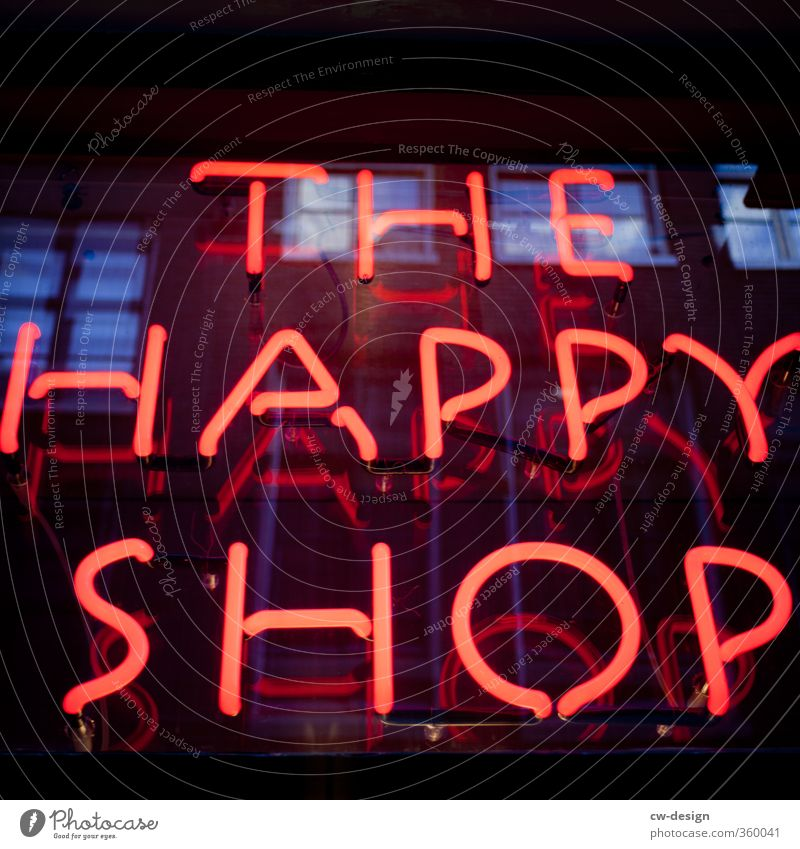 Red Joy Black Love Eroticism Happy Contentment Glass Illuminate Signs and labeling Sex Characters Happiness Signage Joie de vivre (Vitality)