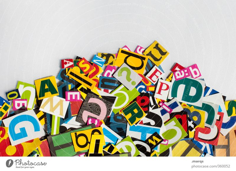 Design Modern Characters Future Creativity Sign Many Typography Chaos Word Ask Advertising Industry Speech Text Criminality Language