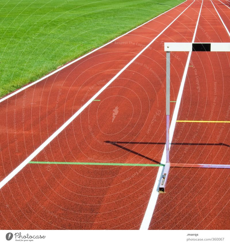 hurdle Sports Fitness Sports Training Track and Field Success Sporting Complex Stadium Career Hurdle Hurdle run Vanishing point Sign Performance Perspective