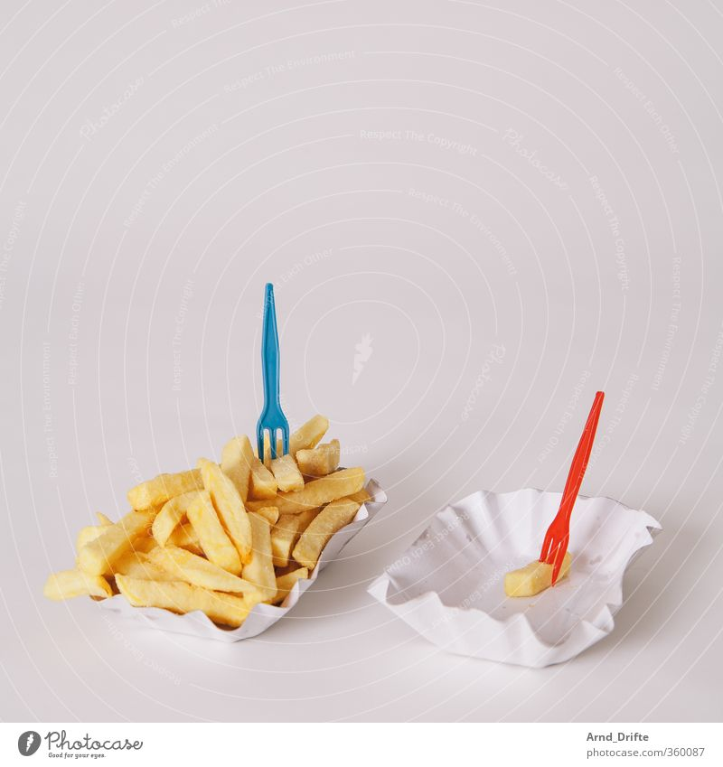 fries Healthy Eating Dish Food photograph Sadness Loneliness Relationship Part 1 Large Small Many Few Unclear Multilayered Limit Scrimp Diminish Diagram