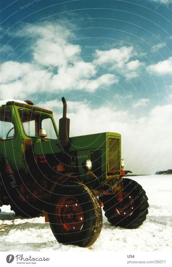 Sky Sun Winter Beach Clouds Snow Transport Vintage car Tractor