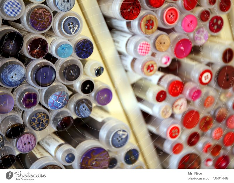 Haberdashery shop Buttons Handcrafts Handicraft Leisure and hobbies Collection Round Fashion Sewing Design Accessory Work and employment Red Pink Muddled