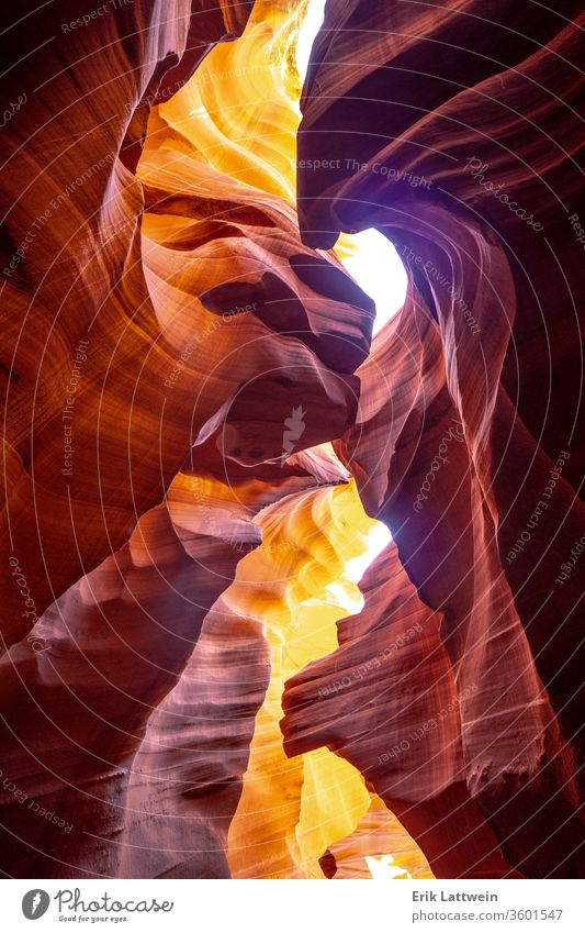 Antelope Canyon - amazing colors of the sandstone rocks Arizona Red Utah Abstract Americas American Cave jumble Landscape Light Lower Nature Navajo Page Sand