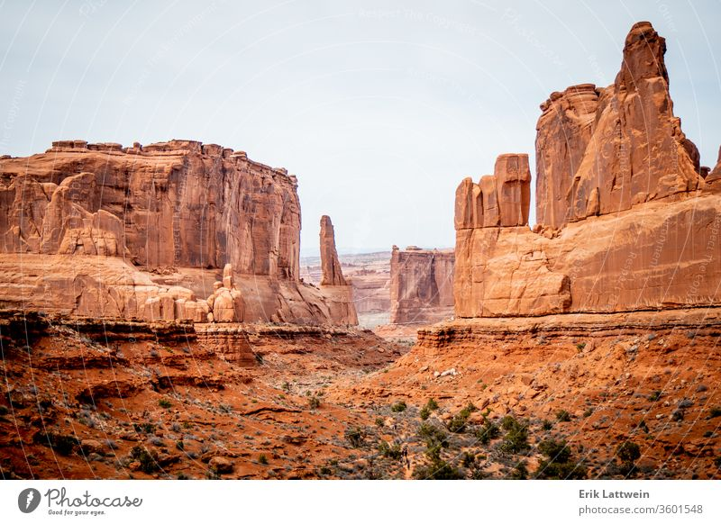 Arches National Park in Utah - famous landmark park arch national rock usa landscape scenic utah moab america erosion geology sandstone desert arches natural