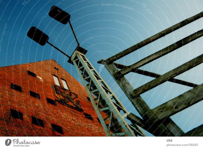 Memory Lantern Industry granaries wooden gate Sky Greifswald