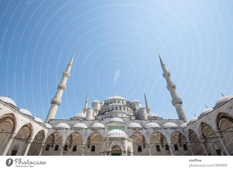 Vacation & Travel Exceptional Tourism Beautiful weather Esthetic Church Cloudless sky Landmark Tourist Attraction Capital city Prayer Old town Turkey Istanbul