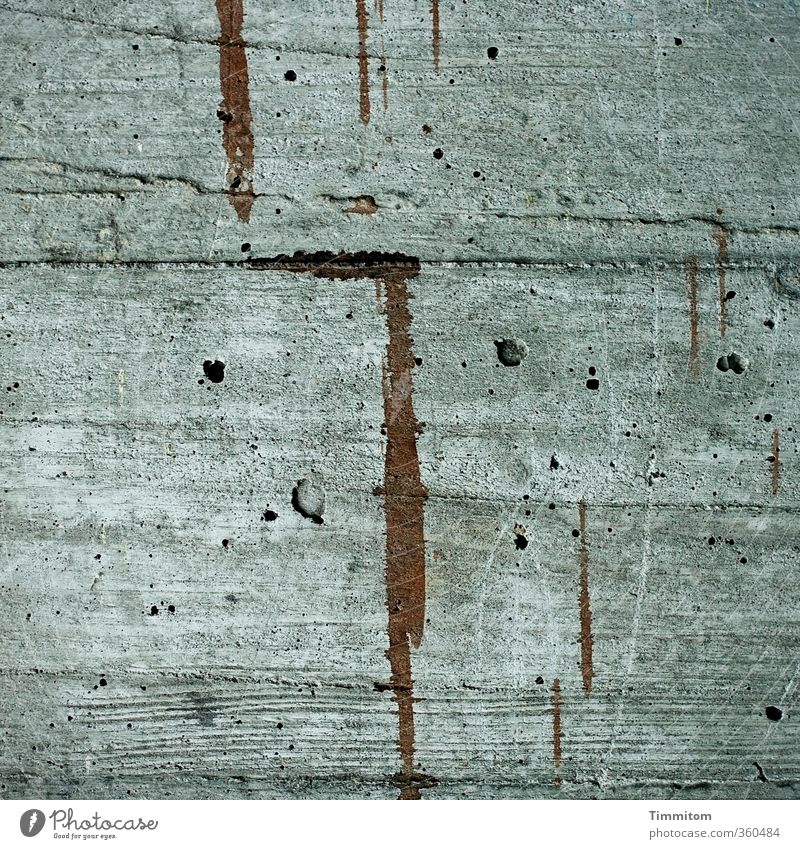Wall (building) Emotions Wall (barrier) Gray Line Art Brown Esthetic Concrete Simple Hollow Garage Wood grain Parking space Trace of color