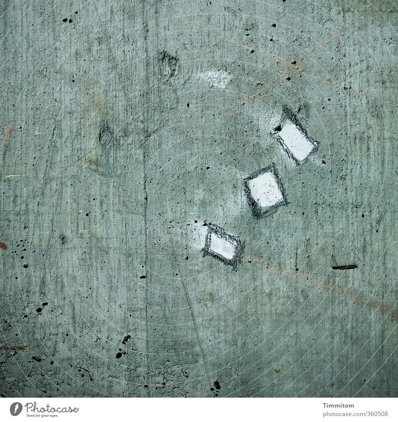 White Emotions Gray Line Esthetic Concrete Simple Sign Tourist Attraction Sharp-edged Chalk Rectangle