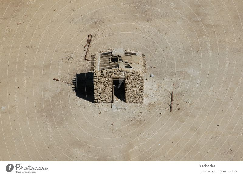 House (Residential Structure) Loneliness Contentment Desert Lighthouse Badlands