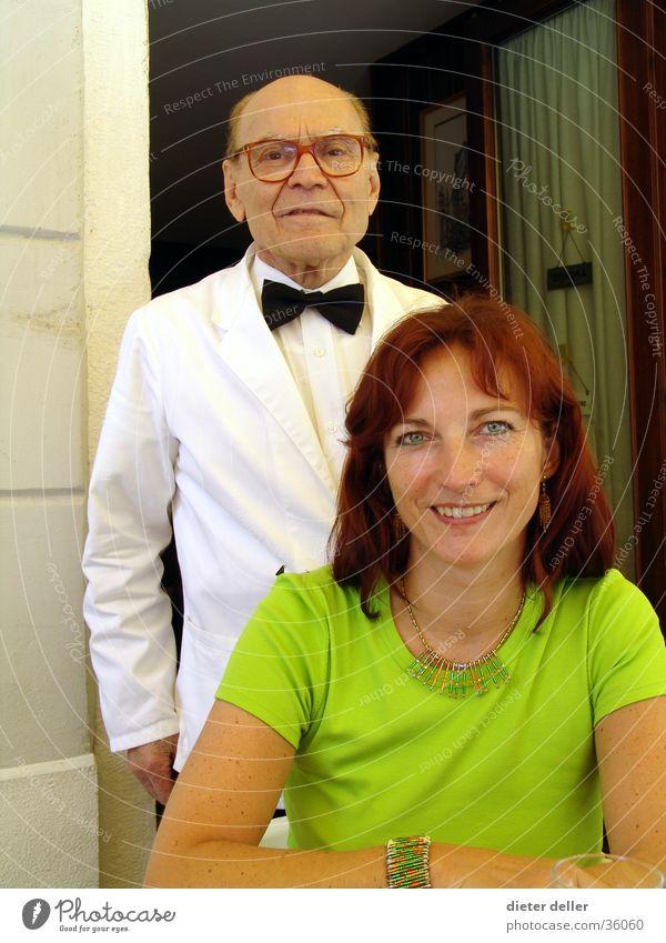 Woman Man Italy Restaurant Friendliness Generation Guest Waiter Profession
