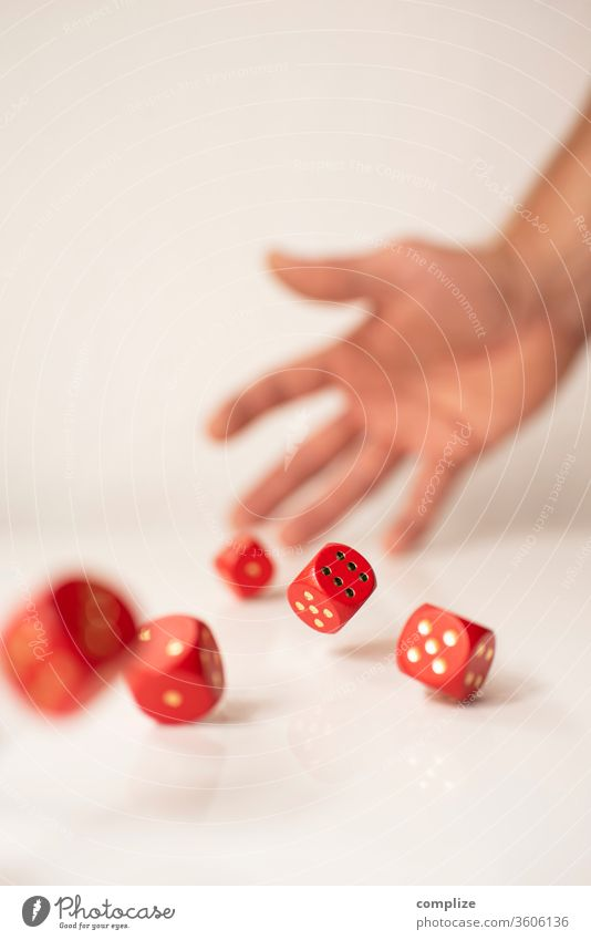 Rolling Cubes luck Playing Poker Table Success Financial Industry Stock market Adults by hand wood Digits and numbers Throw Hope Dangerous Compulsive gambling