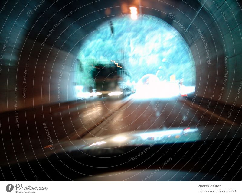 tunnels Oncoming traffic Tunnel Speed Truck Windscreen Transport Highway ramp (exit) poor visibility