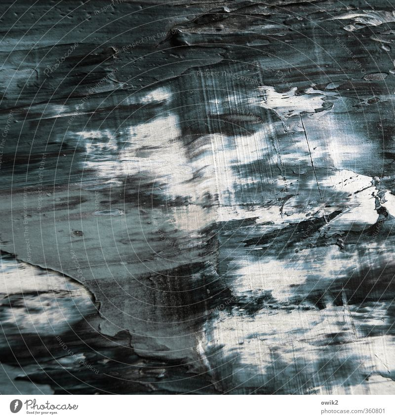 Blue White Black Dark Gray Art Waves Simple Dry Tracks Painting and drawing (object) Near Work of art Rough Abstract Wide