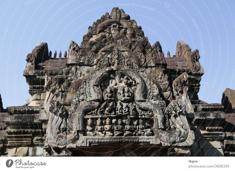 the old buildings and historical site preah khan preak ta phrom bayon neak poan banteay srei worship tower cambodia temple angkor asia ancient wat architecture