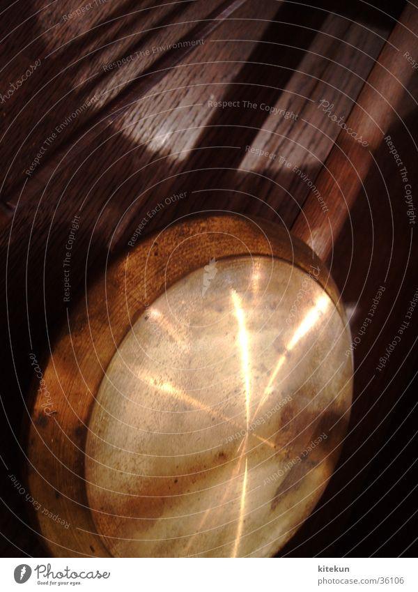 The Golden Pendulum Clock Wood Interesting Mystic Living or residing Metal