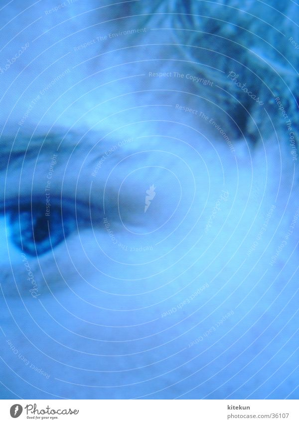 Man Eyes Think Screen Insecure Pixel Enlarged Blue tint