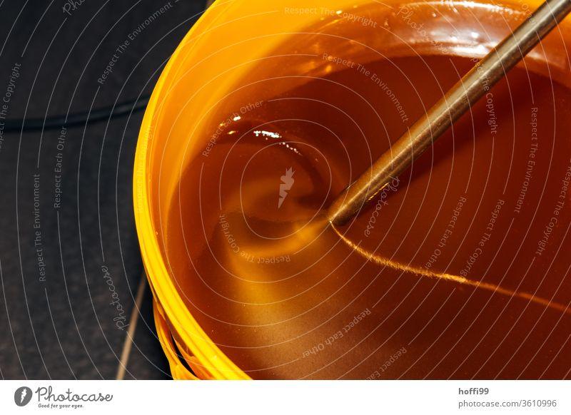 freshly extracted honey is inoculated and stirred Bee-keeping Bee-keeper keep beekeepers Honey honey production organic farming ecologic Honey bee Food Healthy