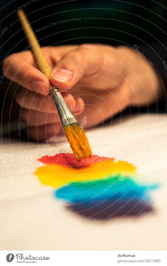 Artist paints rainbow colors Rainbow Colour Watercolor painting Color gradient colourful Play of colours Colour palette colorful background Artistic gaudy