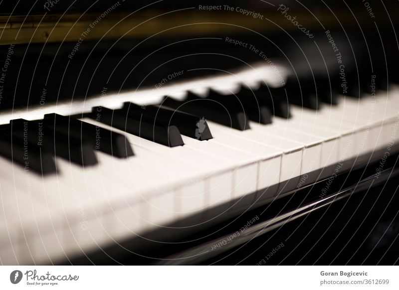 Piano keyboard piano music classical sound instrument melody melodic up close vintage chord detail play equipment tool closeup musical audio