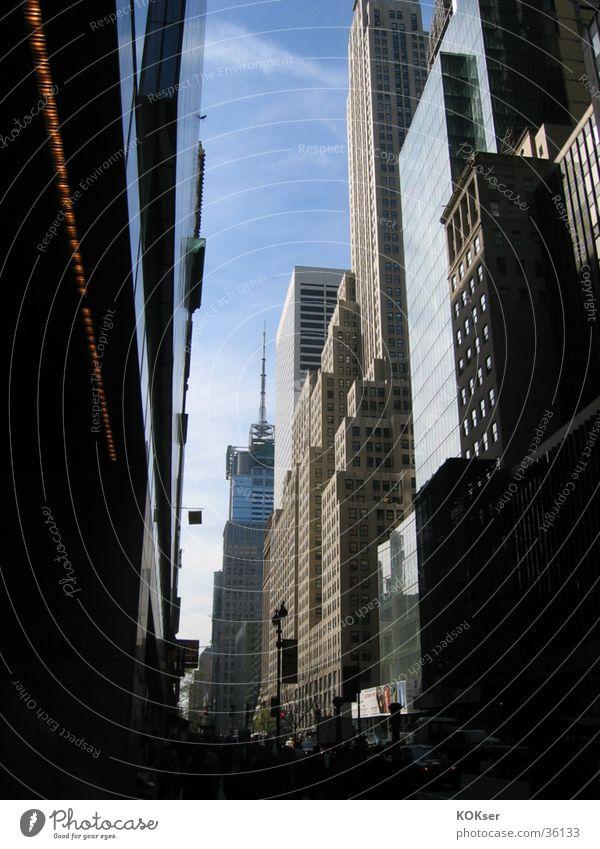 City Street Architecture High-rise New York City