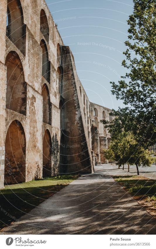 Aqueduct in Elvas, Portugal UNESCO UNESCO World Heritage Site Architecture Vacation & Travel Tourism Exterior shot World heritage landmark Colour photo Ancient