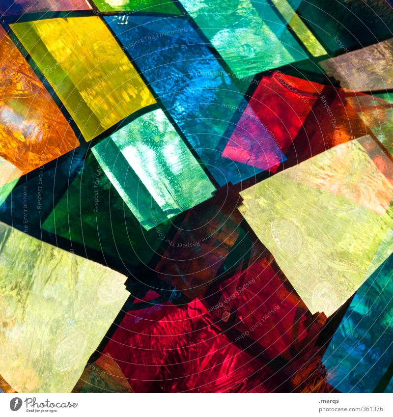 stained glass Style Design Window Glass Exceptional Cool (slang) Hip & trendy Uniqueness Crazy Multicoloured Colour Perspective Surrealism Church window