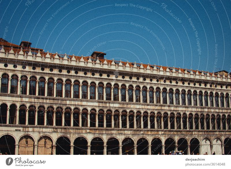 The Doge's Palace from the front. Italy- Venice- St. Mark's Square - Architecture at its best. Palace of Doge Exterior shot Colour photo Vacation & Travel