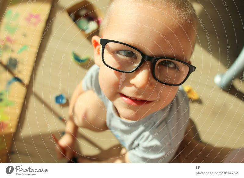 little child with glasses Draw Drawing colours Painting and drawing (object) Art Artist Artistically talented artistic needs Artist's life Talented gift box