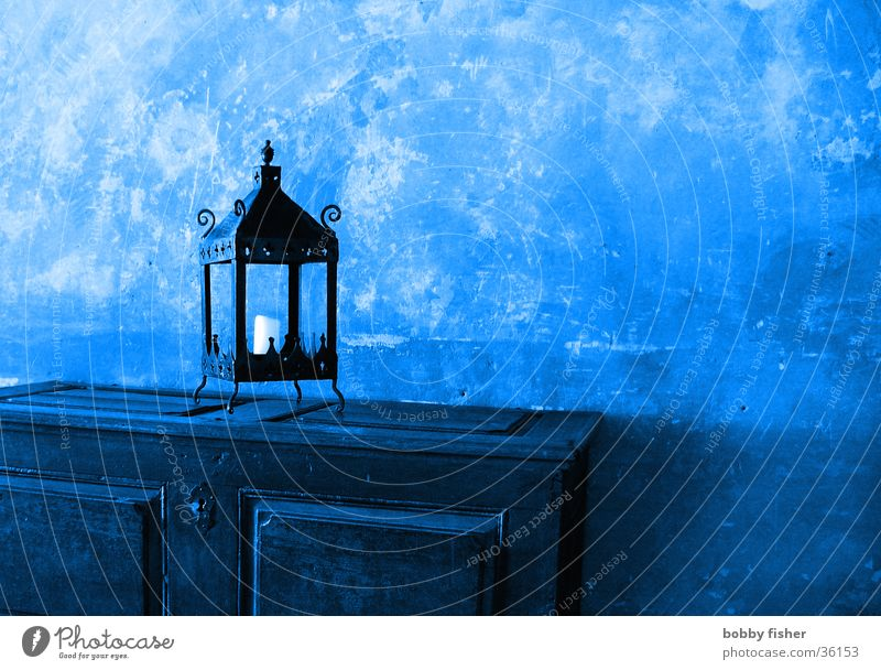 miracle lamp Lamp Cupboard Wall (building) Obscure Blue Old