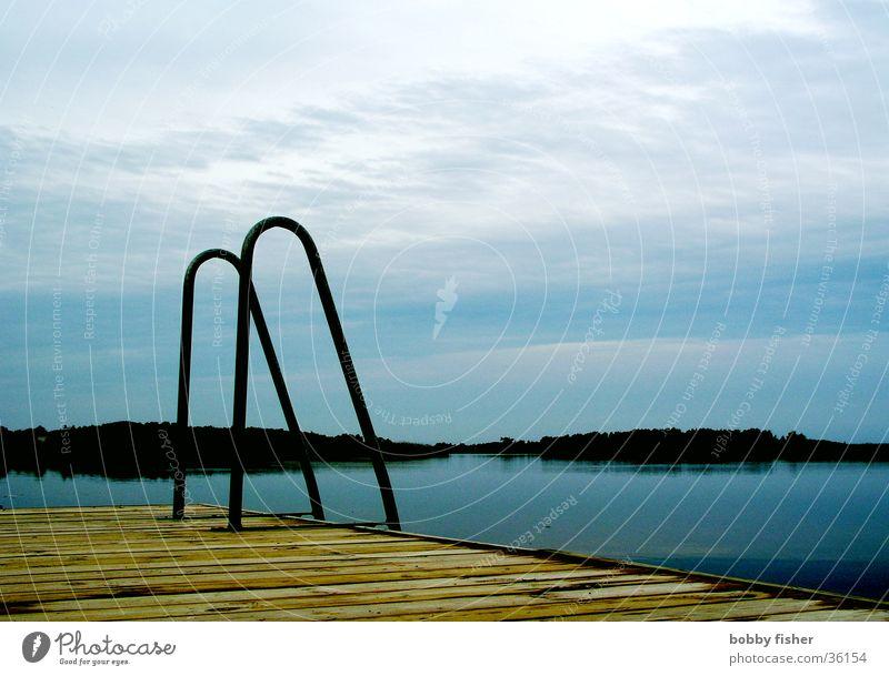 Water Vacation & Travel Calm Lake Coast Sweden Scandinavia Pool ladder
