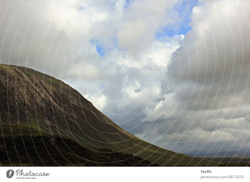 Scottish peace and solitude Scotland tranquillity Loneliness Hill Sky silent mountain Nordic Clouds Summer in Scotland Scottish weather Valley Sparse