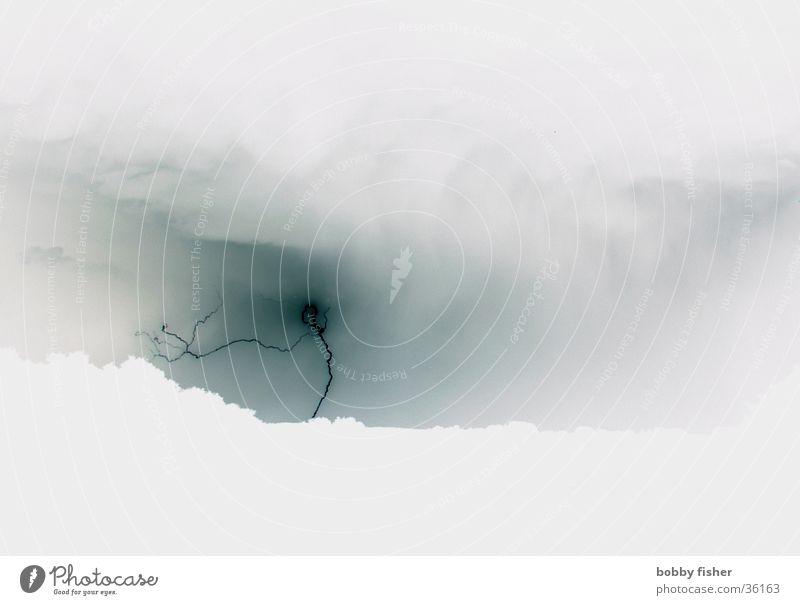 Gray Bright Lightning Thunder and lightning Eerie Delicate Pastel tone Opposite Force of nature
