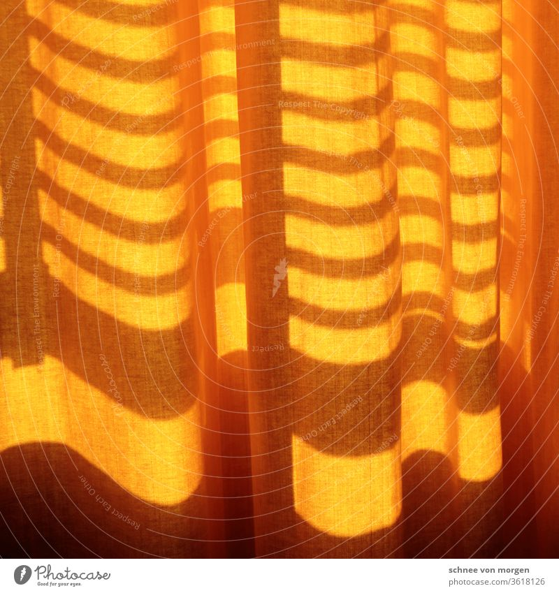 screening curtain from sun Sun silent Light Shadow Cloth Orange Protection Pattern Beam of light Visual spectacle Summer