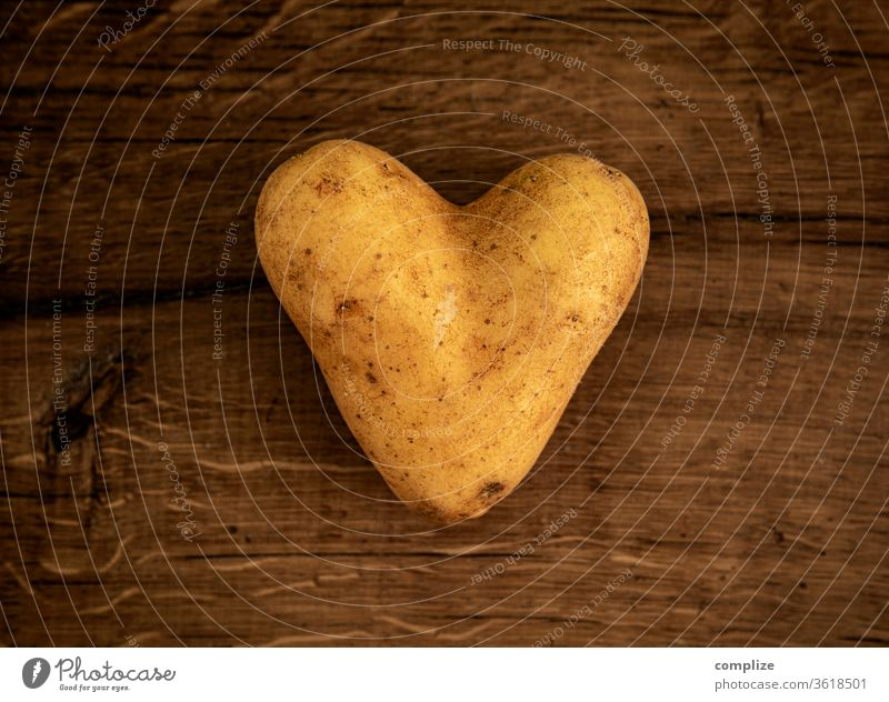 The happiest farmers have the best potatoes potato salad Lovesickness Valentine's Day Like boil heart-shaped Heart-shaped In love Eating Vegan diet
