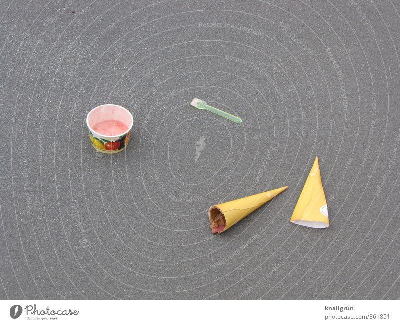 City Summer Street Life Emotions Gray Moody Brown Lie Pink Food Nutrition Ice cream Sweet Asphalt Hot