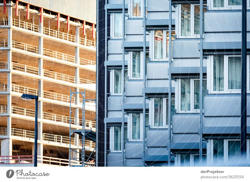 Station district of Frankfurt Architecture built Mirror Window Town Neutral Background mainhattan Exterior shot Copy Space top Isolated Image Main Rich great