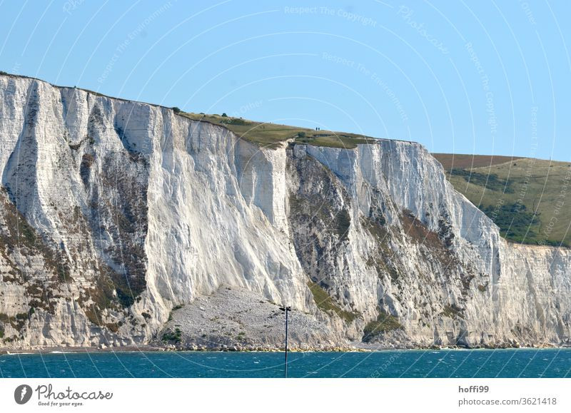 the chalk cliffs of Dover - arriving in England curt Vantage point steep coast Kent Limestone rock Cliff Chalk English Channel Landscape Rock Coast Island