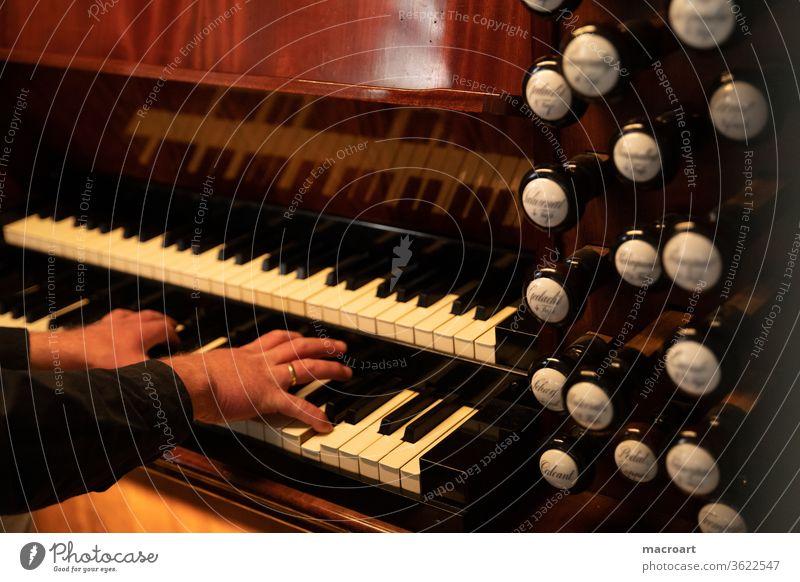 Organ Manual manual Pedal register Whistle wood porcelain Old refurbished Dome Church church music Playing Keyboard fumble Brown tool keyboard instrument Hall