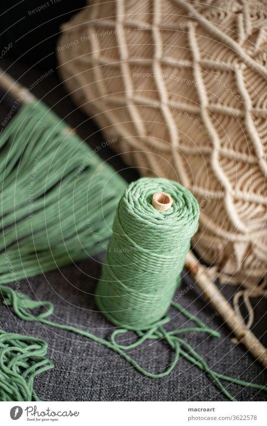 Macramé Node macramé knot cotton ropes cotton yarn Cotton plant Handcrafts DIY hobby node technology Alternative okö birch branch Sheath cushion cover Cushion