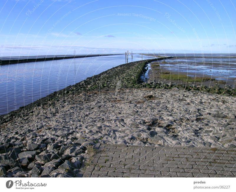exit Ocean Navigable water Dike Coast Water Highway ramp (exit) Bensersiel
