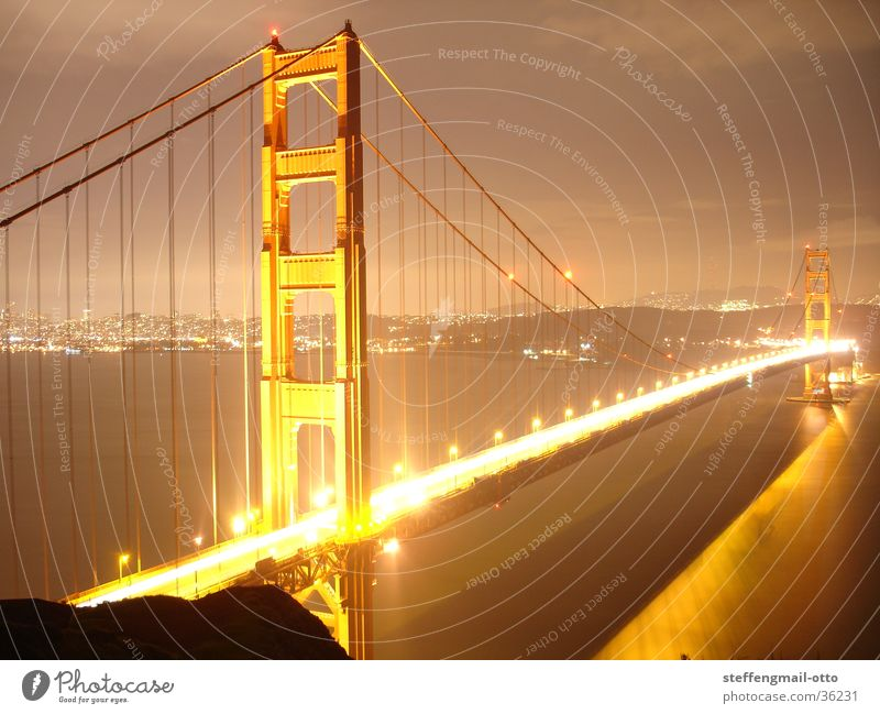Lamp Lighting Gold Bridge Modern Cool (slang) Americas Overexposure Abstract