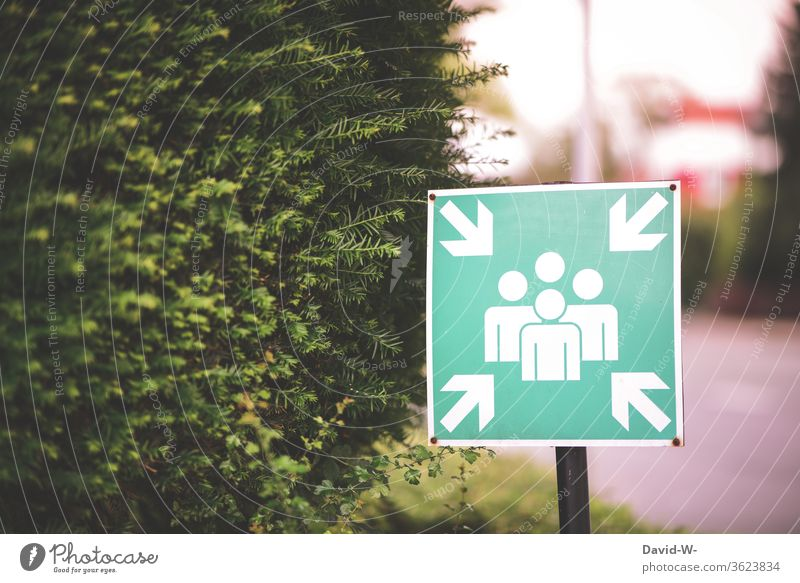 sign - meaning = meeting place Signage Clue Meeting place Collection point amass at the same time meetings Attachment in common esteem green persons people