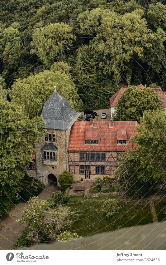 Castle Schaumburg in the forest Forest Architecture Historic Tourist Attraction Manmade structures Old Exterior shot Stone Culture Wall (barrier) built Landmark
