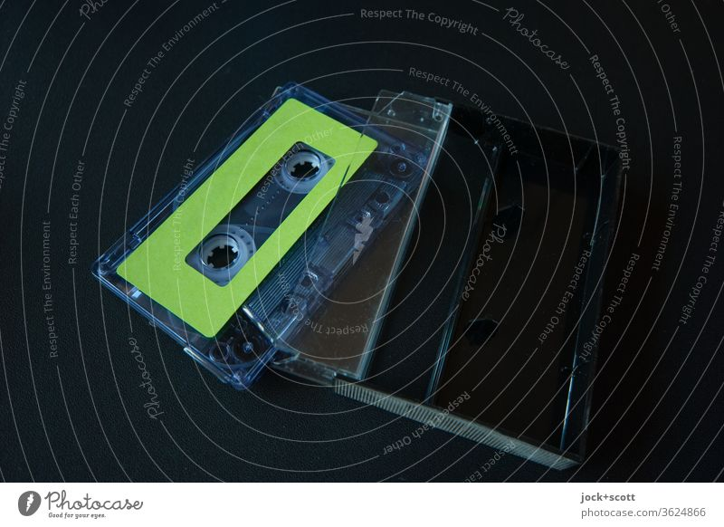 Symmetry in function and technology Tape cassette Music Entertainment electronics Style Collector's item Plastic Authentic Original Retro Design Nostalgia